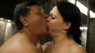 young Hooker with big hooters is ravaged by an old dude