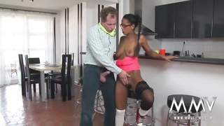 MMV FILMS luxurious Naive nanny from Tunisia screwed
