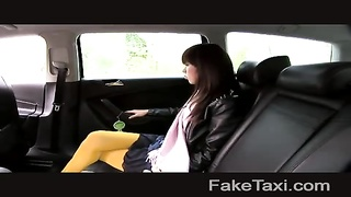FakeTaxi - Japanese tourist with taut  labia