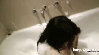 196689Indian inexperienced kavya sharma in bath bathtub  naked with bigtits