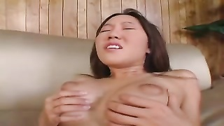 small asian damsel And big White man sausage