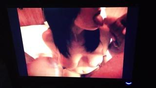 UK Indian desi escort Aaliyah fellatio and licking cum