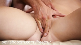 PetiteHDPorn - tight youthful twat creampied