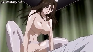 Anime milf in stockings screwed