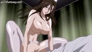 Anime milf in stockings screwed