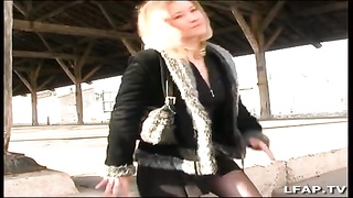 French blondie tramp sodomized