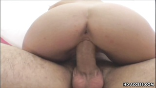 hook-up  eager whore is on the man-meat riding it hard