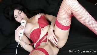 nasty honey  fingers her to orgasm