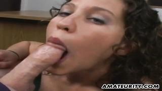 Amateur girlfriend blowjob and titjob with facial