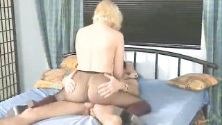 Pantyhose girl is passionate about hot sex