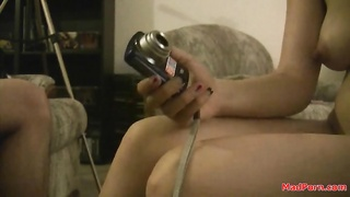 Homemade xxx  hookup with a large facial