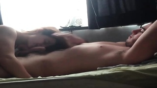 Getting into bed with girl that deepthroats his fuck-stick