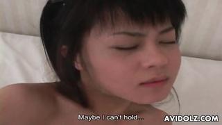 large fake penis  tears up Japanese teenage vagina
