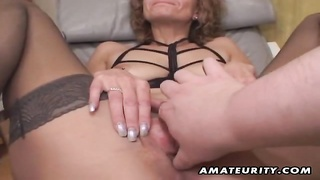 A poor old amateur housewife homemade hardcore fellatio with jizz shot in her mouth humdrum! She guz