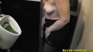 dirty slutwife Marion gets pissed on, gangbanged and creampied by 8 guys. No staging, sincere realit