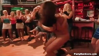 inexperienced women gargle  stripper man-meat at a party
