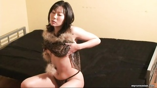 Leopard print underwear on jacking oriental