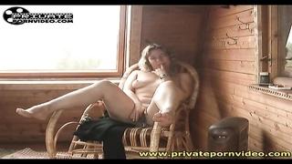 Cute solo blonde masturbates her sensual pussy