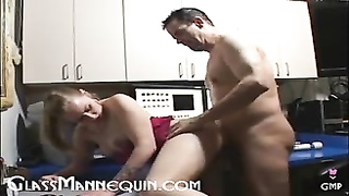Beautiful Blonde Loves Her Puffy Pussy Filled With Old Cock