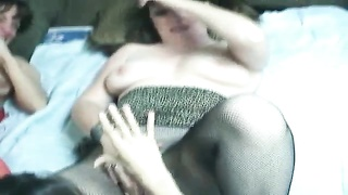 lesbo ladies in remarkable  knickers  liking  their orgy