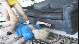 Vintage ass fucking boring blondie tramp Dakota in tall heels