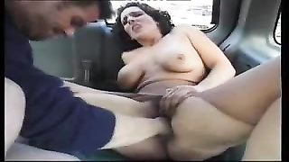 steamy mummy  fisted and poked  in a car