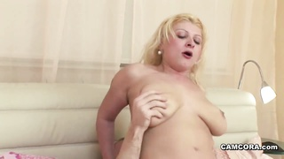 German Step-Son Caught Mom onanism  and fuck her tough