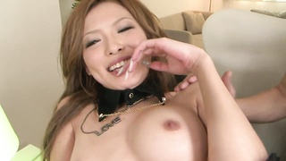Japanese hottie gets her snatch filled with fucktoys  during 3 way