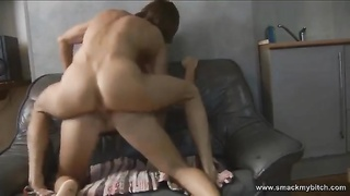 Her ass is absolutely flawless so proceed your eyes to it as she rails  his hard-on and grinds all o