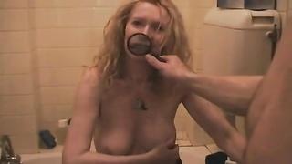 Amateur mature makes fun porn for him