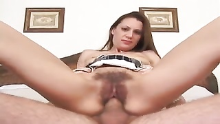 large pubic hair  fur covered  Brunette showing Her skills