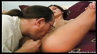 Horny Brunette Enjoys As Ed Powers Eats Her Juicy Pussy