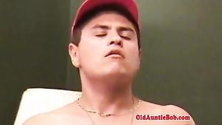 inexperienced military jock masturbating off in homemade