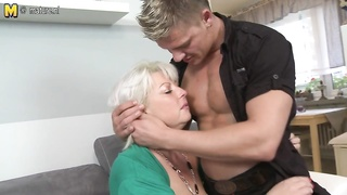 burly stale mother nailing and sucking