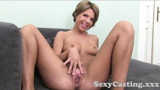 Casting HD Creampie for nervous blondie inexperienced