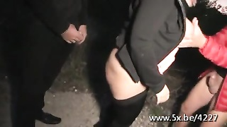 Helena gets double ravaged in a gangbang