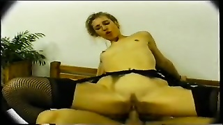 nasty inexperienced in Stockings Gets ass fucking