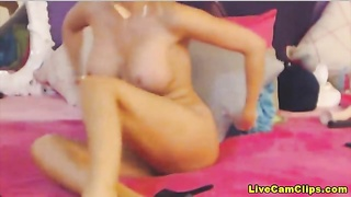 Busty blonde barbie in a exclusive webcam show