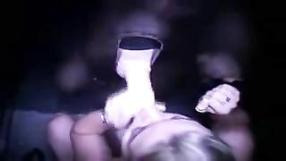 horny Blond lady in Gloryhole