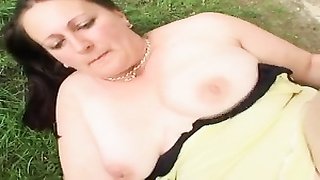 Mature lady outdoors