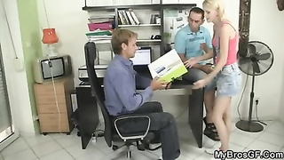His bitch getting busted cheating