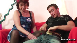 236887German Mother seduce young boy to hard fuck in her asshole
