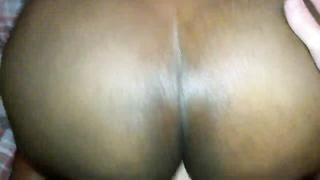 ebony BBW amateur taking it up the butt