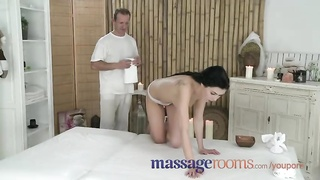 Massage Rooms Tight little holes are licked with expertise to orgasm