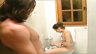 Cute Hairy Italian Teen love cum in her mouth