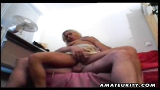 A hot blonde amateur wife rides the cock and gives hot blowjob with nice facial cumshot ! A genuine