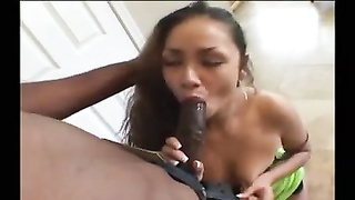 Latina wife at home and her black lover fuck