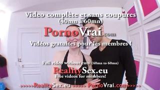 Elle arrete pas de jouir pour son 1er porno ! French amateur