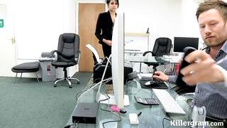 Hot Indian babe performs an internal audit