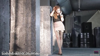 Amazing red head fashion model Sam Brook gone bad shows how she masturbates